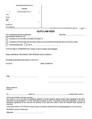 printable blank quit claim deed form quit claim deed form blank fill online printable