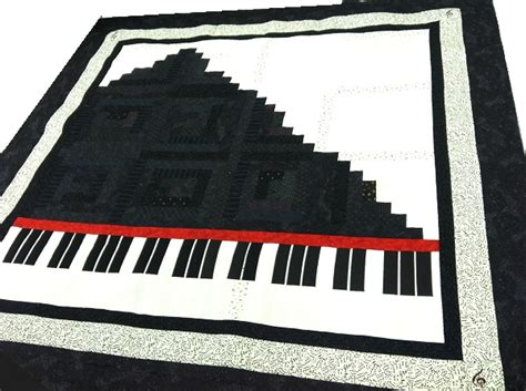Piano Quilt Pattern by Quilting Together Piano Quilt