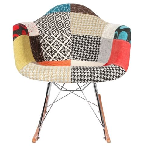 chaise 224 bascule rar patchwork style eames secret design
