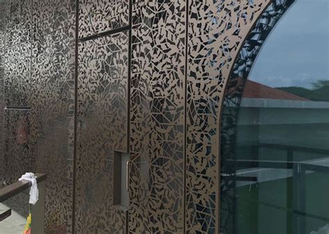 mm laser cutting metal screen facade  architectural