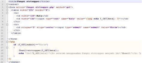 tutorial php w belajar komputer tutorial php fungsi strtoupper untuk