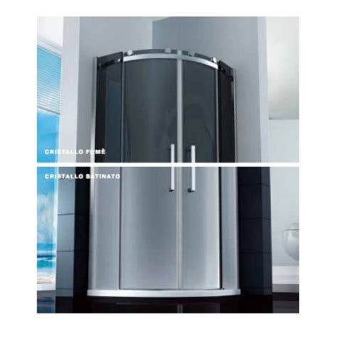 piatto doccia 85x85 box doccia semicircolare porta scorrevole 8mm vetro