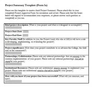 Microsoft Project Templates by Sle Project Summary Template 8 Free Documents In Pdf