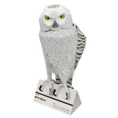 Snowy Owl Papercraft Museum - origami on