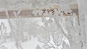 Jcpenney Lace Curtains Vintage Shabby Floral Chic White Lace Jc Penney Curtain Valance 19 Quot X 58 Quot Ebay