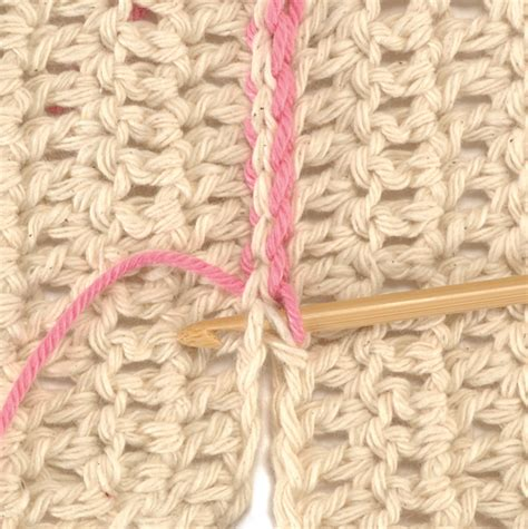 joining knitting together slip stitch crochet stitch n purl