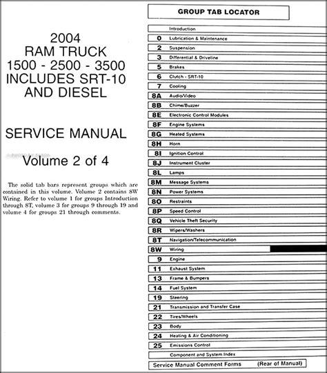 auto manual repair 2004 dodge ram 3500 electronic toll collection 2004 dodge ram truck repair shop manual factory reprint 4 volume set 1500 2500 3500