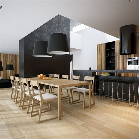 modern kitchen and dining room design black white pine kitchen dining room suite interior