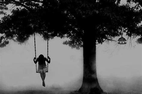 interested in swinging alone girl sad depressed lonely in a swing