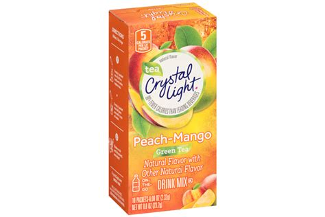 carbohydrates per 8 oz water light mango green tea on the go drink mix 10