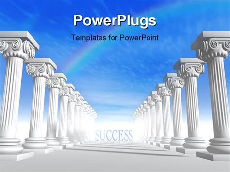 powerpoint template conceptual iconic style greek
