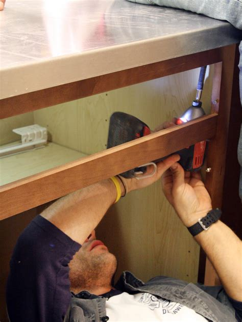 attach wood countertop to cabinet how to install a stainless steel kitchen countertop how