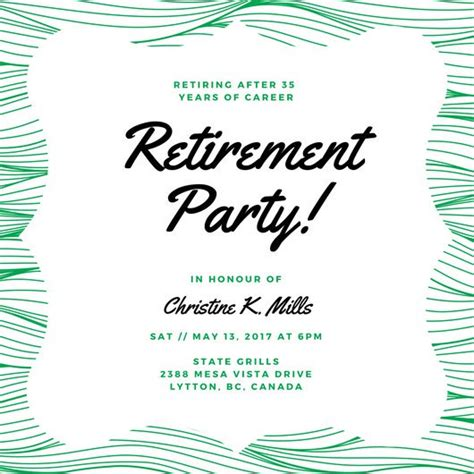 retirement luncheon invitation template retirement invitation templates canva retirement