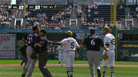 baseball benches clear benches clear after gomez pirates get into it baseball club