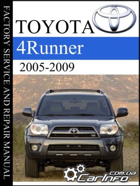 auto repair manual free download 1994 toyota 4runner navigation system toyota 4runner 2005 2009 factory service and repair manual 187 автолитература руководства по