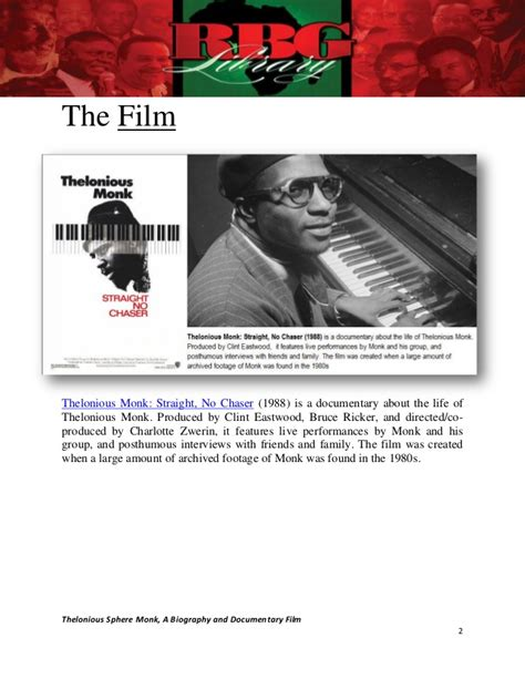 biography documentary film thelonious sphere monk a biography and documentary film