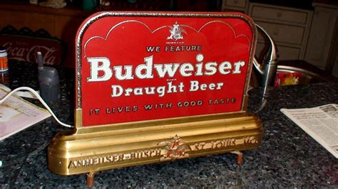 budweiser light up sign budweiser counter top light up sign roadrelics buys and
