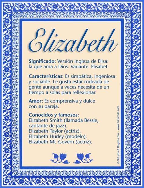 mensajes subliminales q significa elizabeth significado de elizabeth nombre elizabeth
