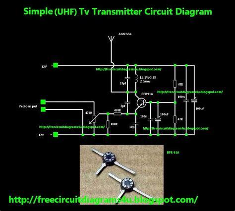 circuit diagrams  simple uhf tv transmitter circuit diagram