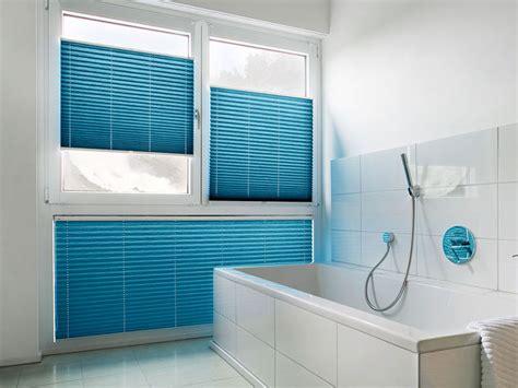 badezimmer plissee plissees faltenstores als sonnenschutz