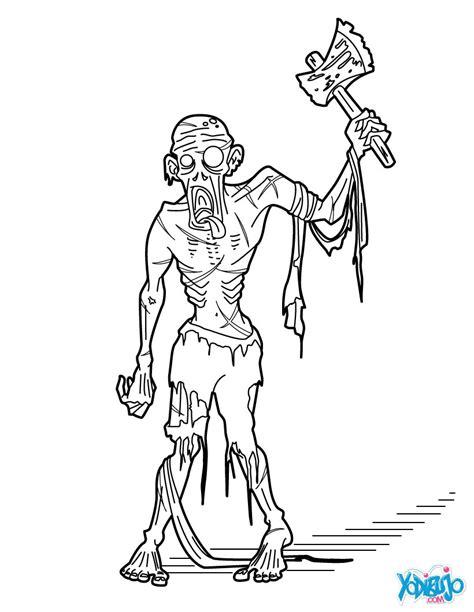dibujos para colorear zombies dibujos para colorear zomb 237 enbrujada es hellokids com