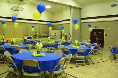 blue and gold banquet centerpiece ideas blue and gold centerpiece idea cub scouts blue and gold