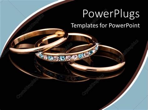 ppt templates for jewellery powerpoint template a beautiful depiction of gold rings