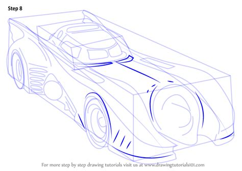 batman car drawing step by step how to draw a batmobile 1989