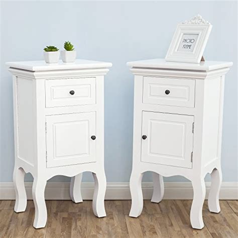 unfinished nightstand bedroom unfinished shabby chic uenjoy shabby chic pair of bedside table unit wooden