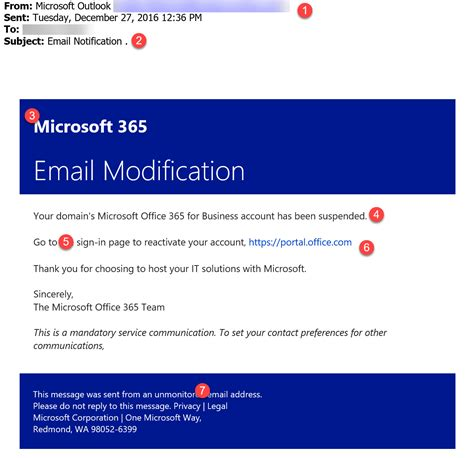 Office 365 Phishing Email Computit Office 365 Email Templates