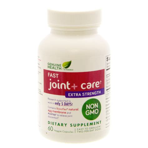 Genuine Health Detox Reviews by Fast Joint Care Strength Genuine Health