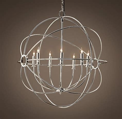 Chrome Orb Chandelier Foucault S Orb Chandelier Polished Nickel Design Bring On The Light Pinterest This