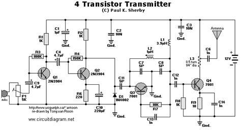 transistor for fm transmitter fm transmitter circuit with 4 transistors schematic design
