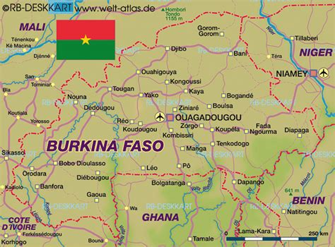 burkina faso world map map of burkina faso map in the atlas of the world