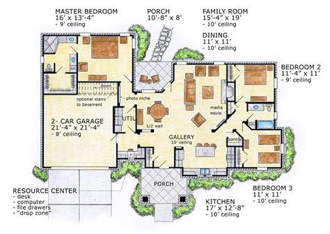 Conceptual craftsman ranch house plan