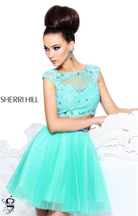 short hair sherri hill sherri hill 21154 sherri hill two piece short tulle