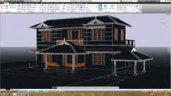 cad house autocad double storied 3d house preparing the plan for 3d youtube