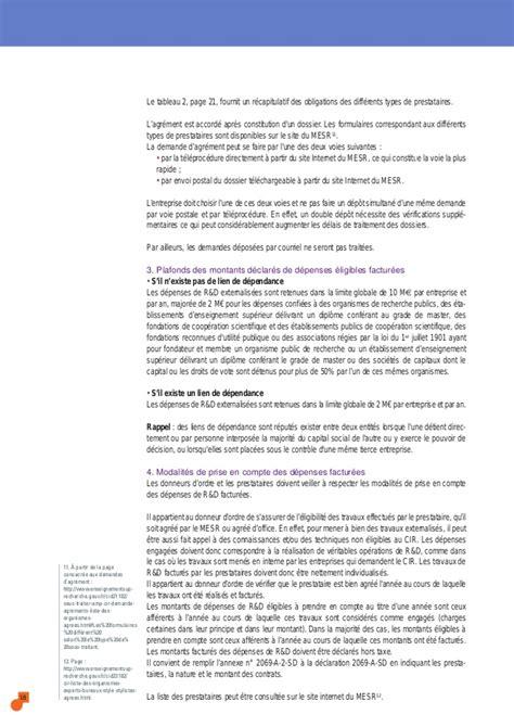 Formulaire Credit Impot Recherche Guide Du Cr 233 Dit Imp 244 T Recherche 2014