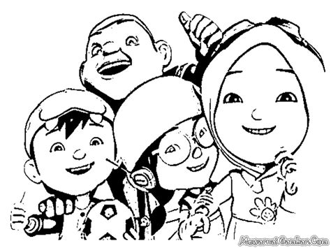 Free coloring pages of boboiboy