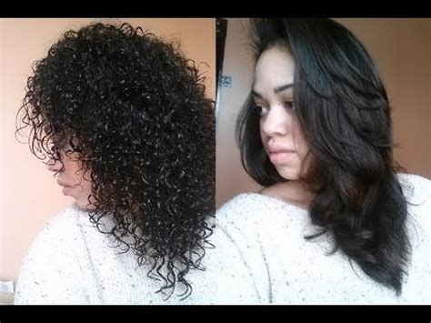 https how to striahten curly hair straightening curly hair instyler youtube