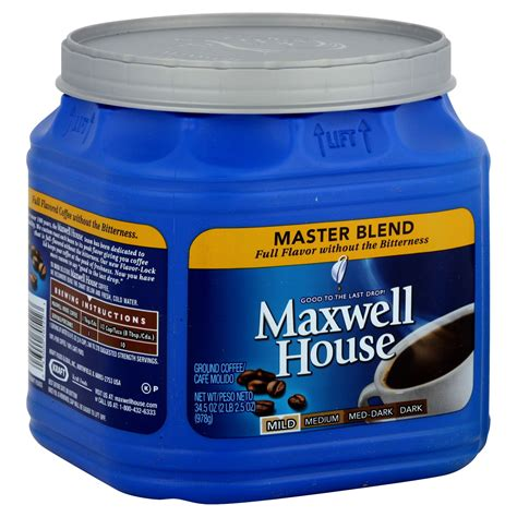 maxwell house coffee coupons maxwell house coffee ground master blend mild 34 5 oz 2 lb 2 5 oz 978 g