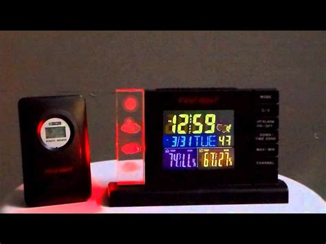 alert sfa2650 atomic radio controlled weather station alarm clock with wireless sensor