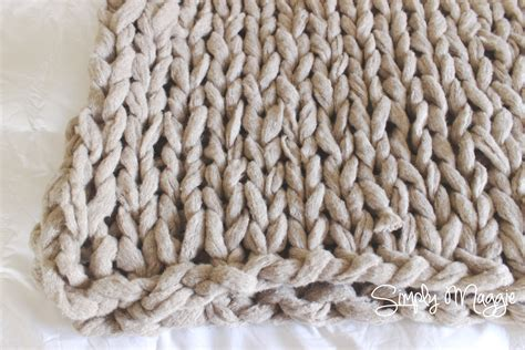 arm knit arm knit a blanket in 45 minutes simplymaggie com