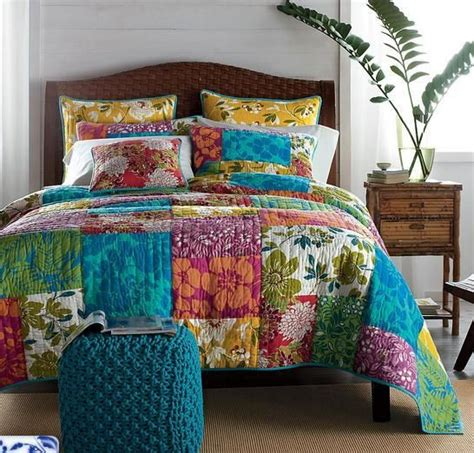 Patchwork Bedding Set - free shipping new arrival colorful patchwork quilt