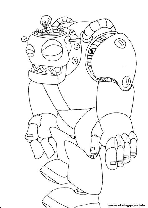 coloring book vs views zombot plants vs zombies coloring pages printable