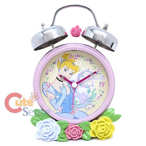 disney princess cinderella bell alarm clock with flowers figure ebay