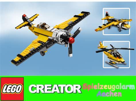 lego 6745 3 in 1 model creator yellow plane propeller power ebay