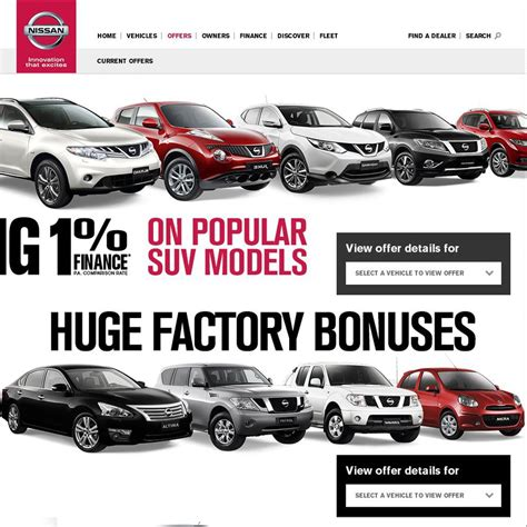 1 finance deal on brand new nissan cars ozbargain