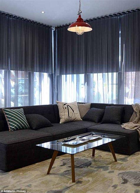 dark room curtains window dressing living room inspiration pinterest