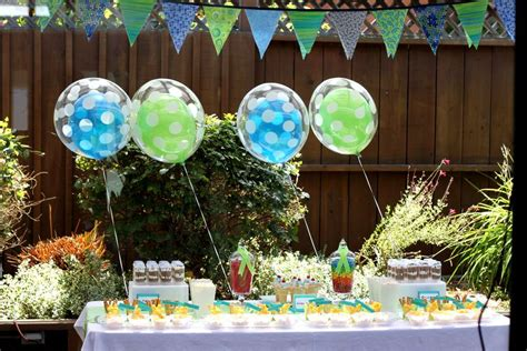 themes party farewell a blue green theme party for boys farewell party party